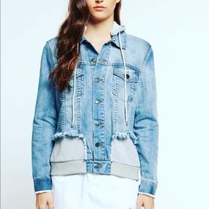 Denim Jacket with French Terry Hood